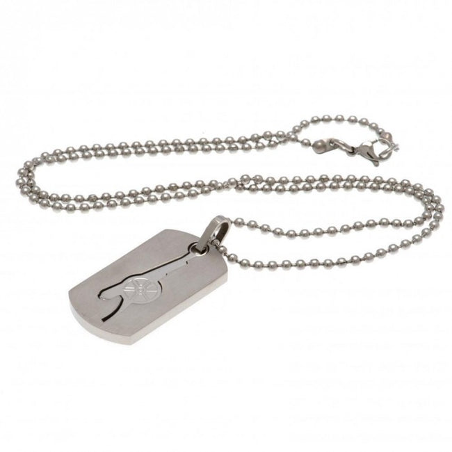 Front - Arsenal FC Cut Out Dog Tag And Chain