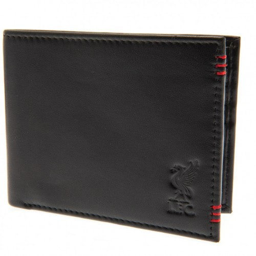 Front - Liverpool FC Unisex Adults Leather Stitched Wallet