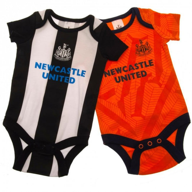 Front - Newcastle United FC Baby Unisex Bodysuit (Pack Of 2)