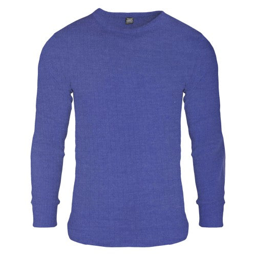 Front - FLOSO Mens Thermal Underwear Long Sleeve T Shirt Top (Standard Range)