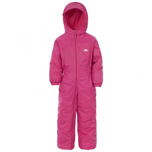 Front - Trespass Little Kids Unisex Dripdrop Padded Waterproof Rain Suit