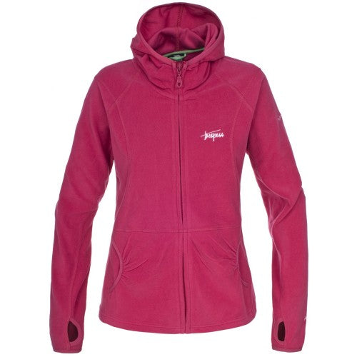 Front - Trespass Womens/Ladies Marathon Hooded Full Zip Fleece Jacket