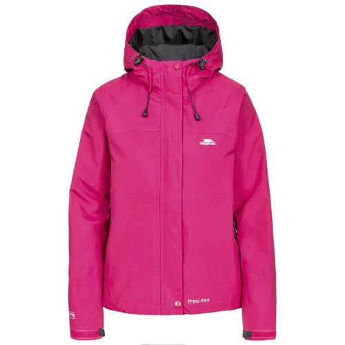 Front - Trespass Womens/Ladies Florissant Hooded Waterproof Jacket