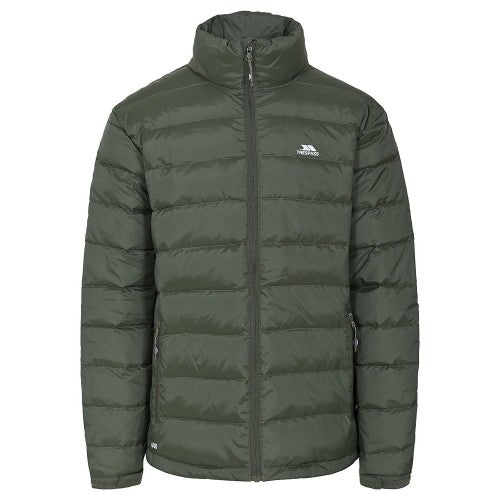 Front - Trespass Mens Retreat Full Zip Up Down Jacket
