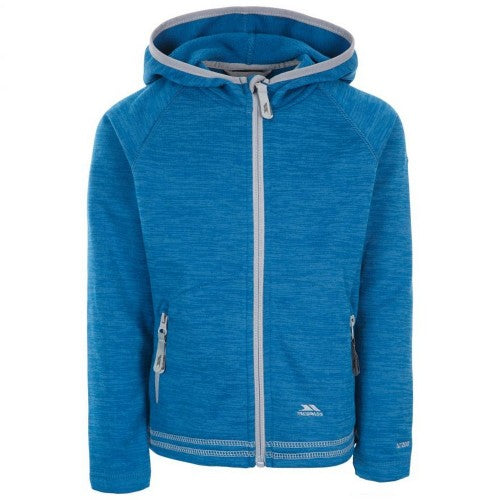 Front - Trespass Childrens Girls Goodness Full Zip Hooded Fleece Jacket
