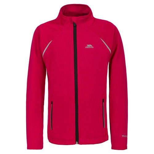 Front - Trespass Childrens/Kids Harbird Full Zip Athletic Top
