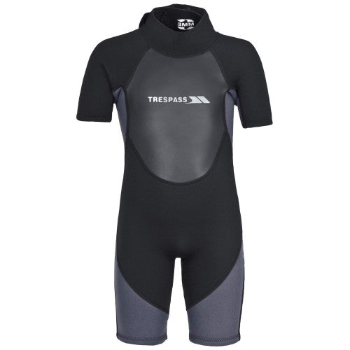 Front - Trespass Childrens Boys Scuba 3mm Short Wetsuit
