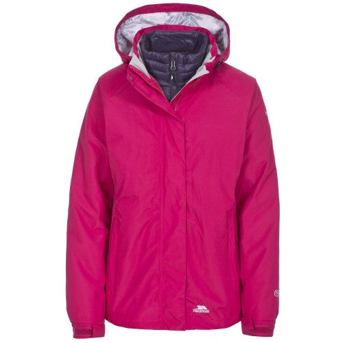 Front - Trespass Womens/Ladies Trailwind Waterproof 3-In-1 Jacket
