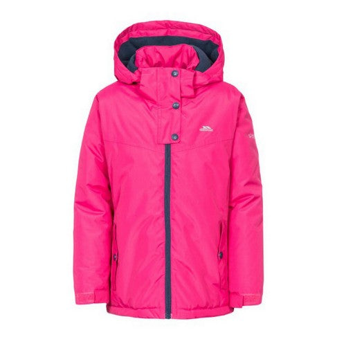 Front - Trespass Childrens Girls Maybole Waterproof Jacket