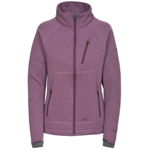Front - Trespass Womens/Ladies Causeway Full Zip Fleece Jacket