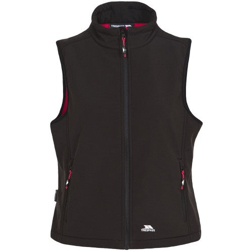 Front - Trespass Womens/Ladies Norma Softshell Sleeveless Gilet