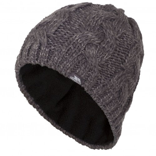 Front - Trespass Mens Tomlins Knitted Beanie Hat