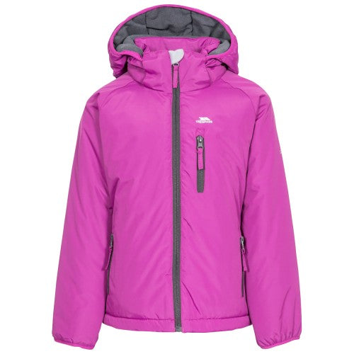Front - Trespass Childrens Girls Shasta Waterproof Jacket