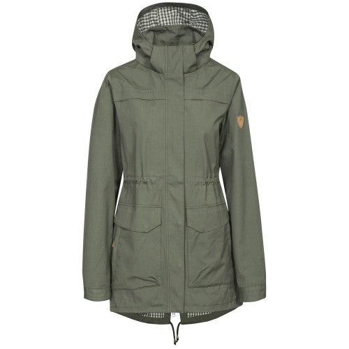 Front - Trespass Womens/Ladies Amanita Hooded Waterproof Rain Jacket