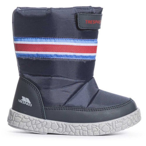 Front - Trespass Boys Alfred Touch Fastening Snow Boots