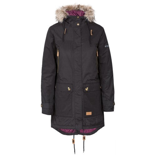 Front - Trespass Womens/Ladies Clea Waterproof Parka Padded Jacket