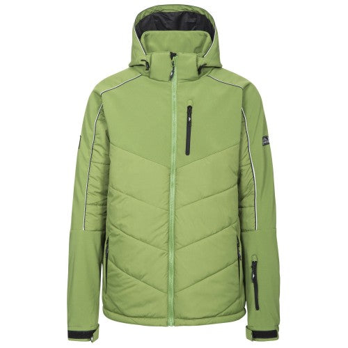 Front - Trespass Mens Taran Hooded Ski Jacket