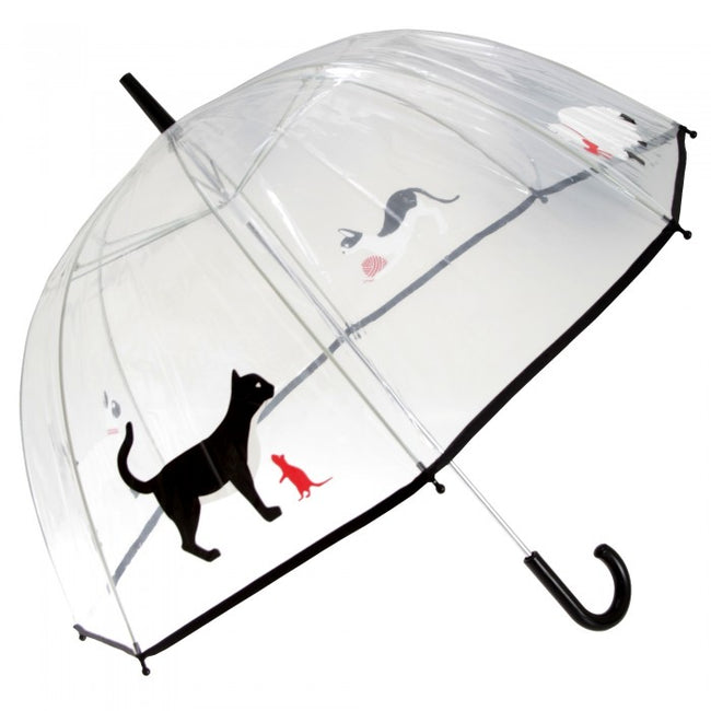 Front - Drizzles Adults Unisex Dome Cat Umbrella