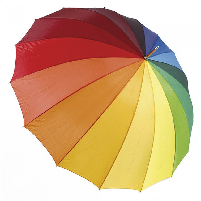 Front - Drizzles Rainbow Golf Umbrella