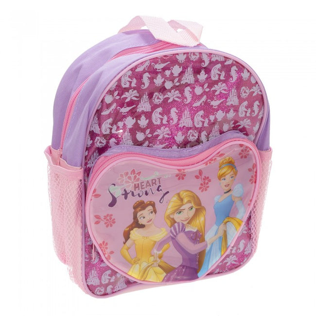 Front - Disney Girls Princess Glitter Backpack