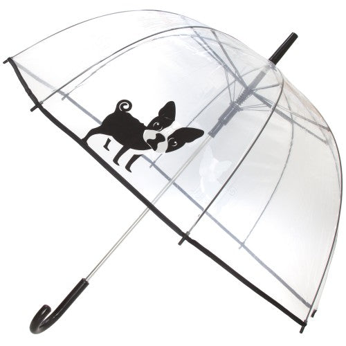 Front - X-Brella Unisex Adults 23in Transparent French Bulldog Stick Umbrella