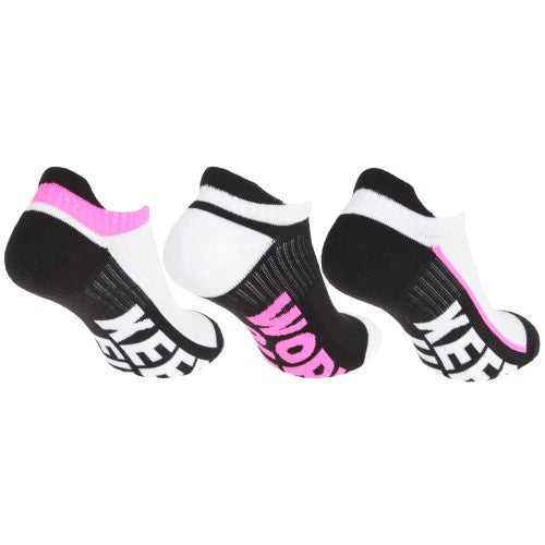 Front - Redtag Womens/Ladies Sport Low Cut Trainer/Liner Socks (3 Pairs)
