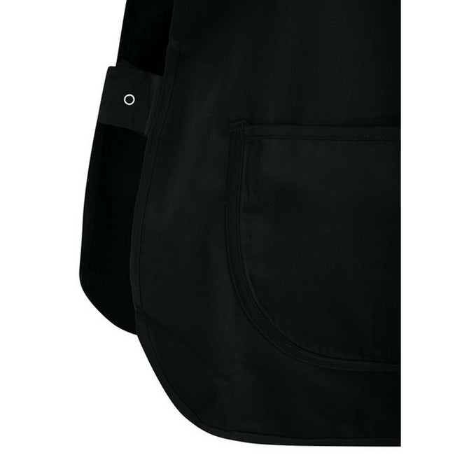 Black - Side - Absolute Apparel Adults Workwear Tabard With Pocket