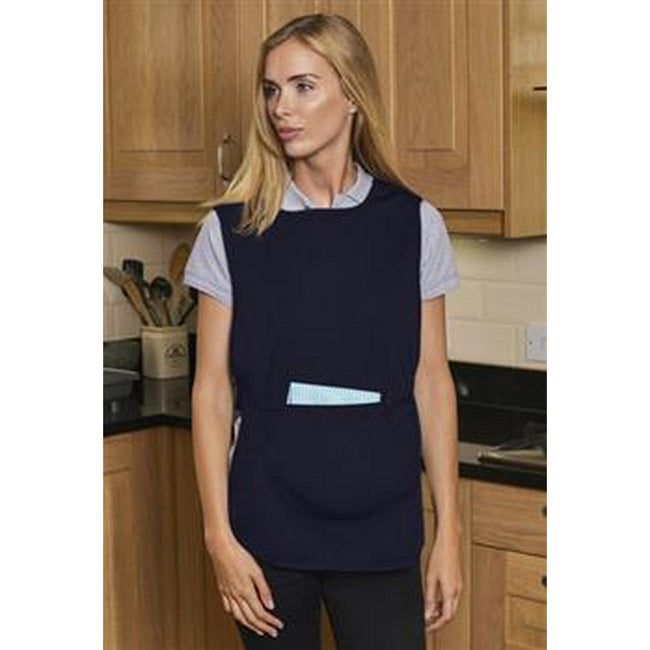 Navy - Back - Absolute Apparel Adults Workwear Tabard With Pocket