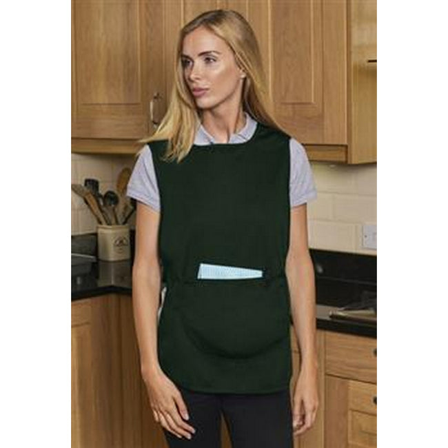 Bottle Green - Back - Absolute Apparel Adults Workwear Tabard With Pocket