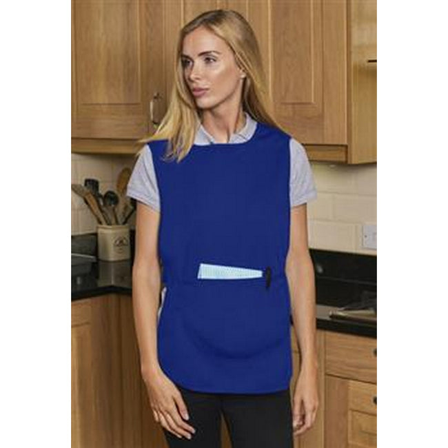 Royal - Back - Absolute Apparel Adults Workwear Tabard With Pocket
