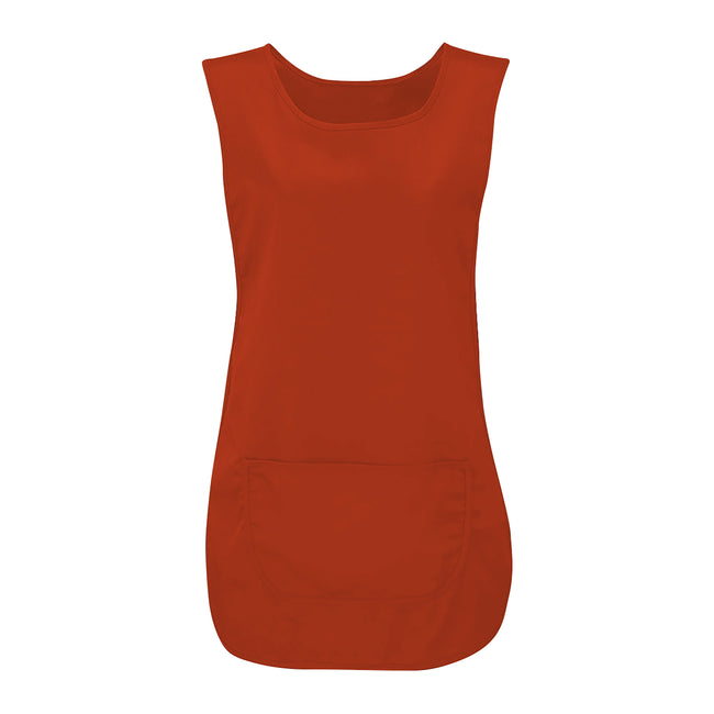 Red - Front - Absolute Apparel Adults Workwear Tabard With Pocket