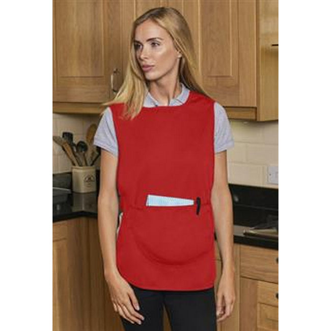 Red - Back - Absolute Apparel Adults Workwear Tabard With Pocket