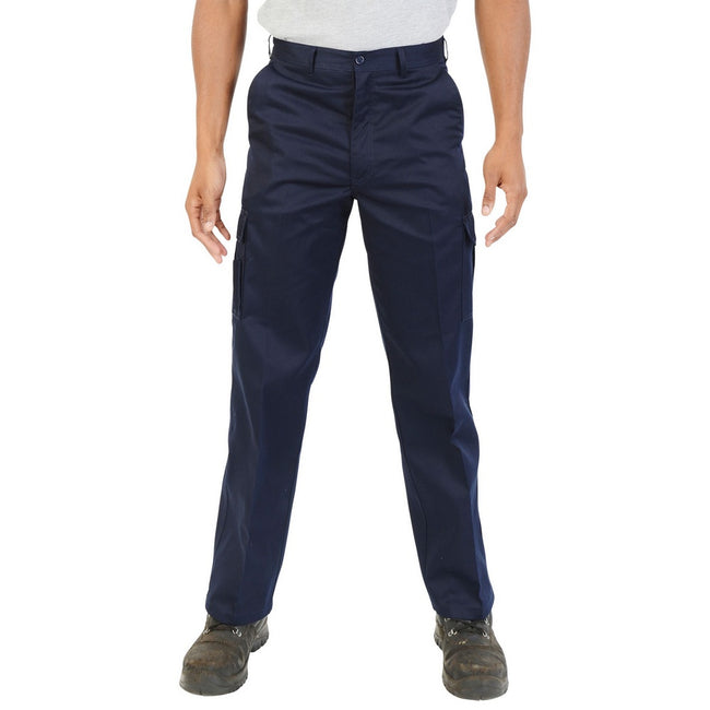 Navy - Back - Absolute Apparel Mens Combat Workwear Trouser