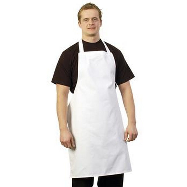 White - Front - BonChef Full Length Apron