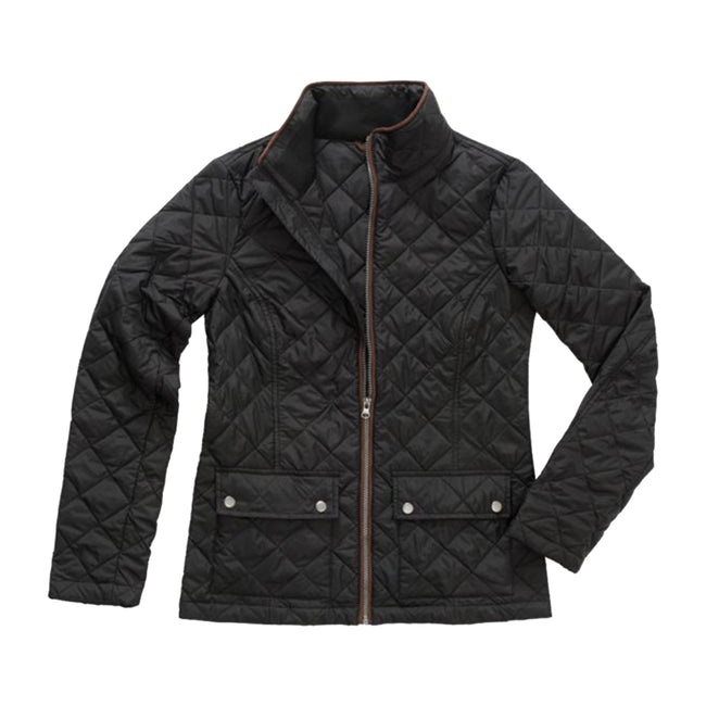 Military Green - Front - Stedman Womens-Ladies Active Quilted Jacket