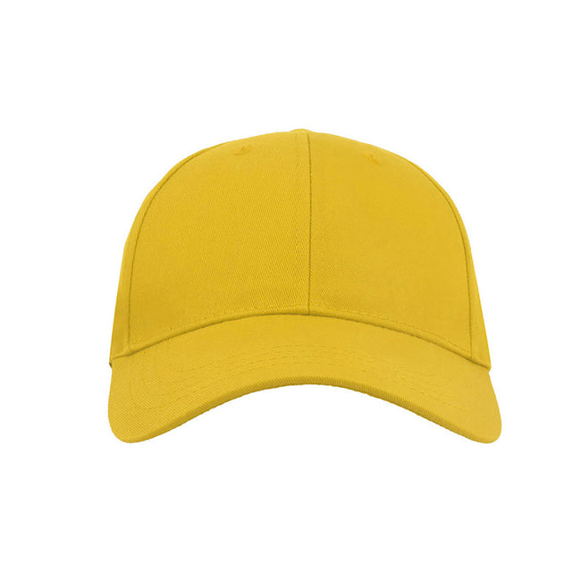 Yellow - Front - Atlantis Zoom Sports 6 Panel Baseball Cap (Pack of 2)