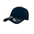 Navy - Front - Atlantis Unisex Recycled 6 Panel Cap