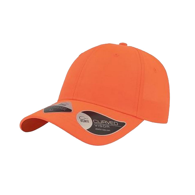 Orange - Front - Atlantis Unisex Recycled 6 Panel Cap