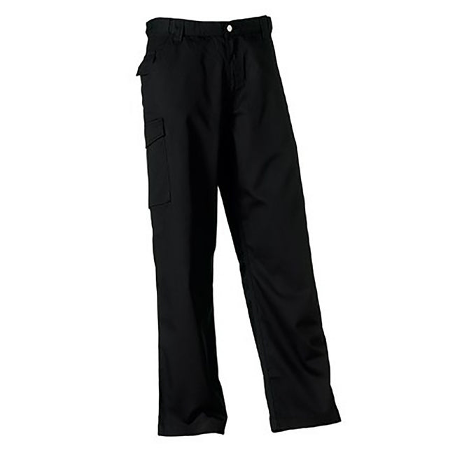Convoy Grey - Front - Russell Workwear Mens Polycotton Twill Trouser - Pants (Long)