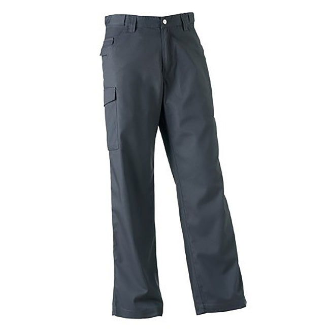 French Navy - Front - Russell Workwear Mens Polycotton Twill Trouser - Pants (Long)