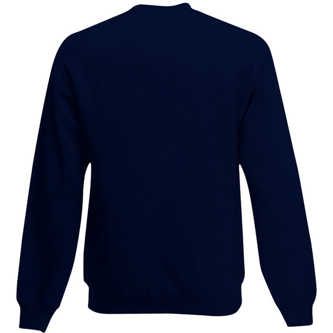 Deep Navy - Back - Fruit Of The Loom Childrens Big Boys Set in Sleeve Sweatshirt