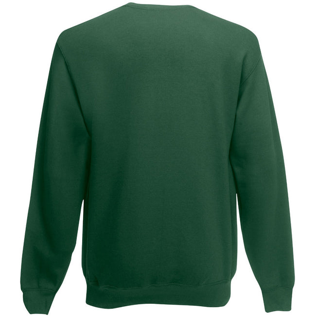 Bottle Green - Back - Fruit Of The Loom Childrens Big Boys Set in Sleeve Sweatshirt