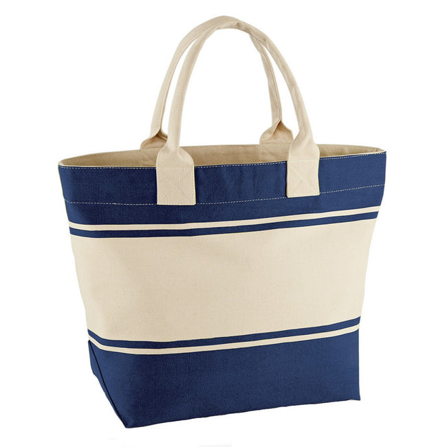 French Navy-Off White - Front - Quadra Canvas Deck Bag (24 Liters)