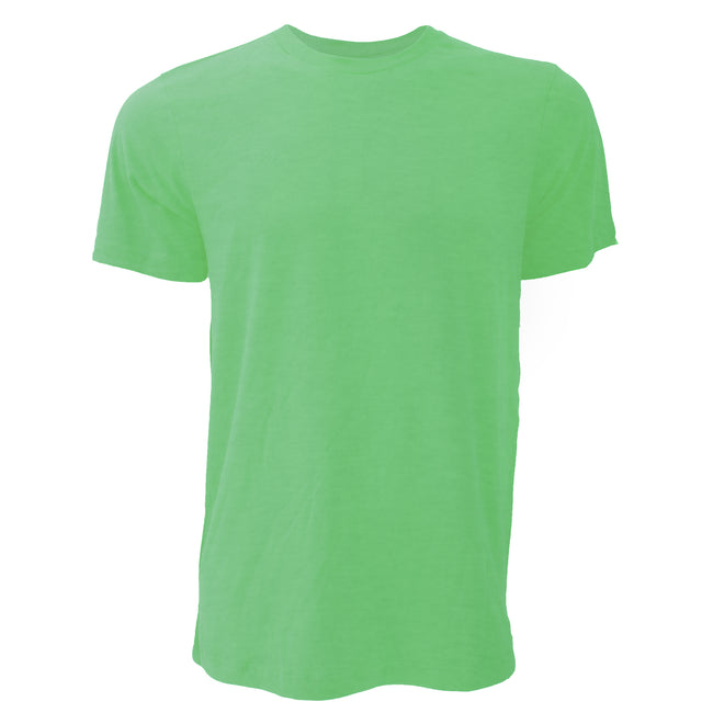 Heather Green - Front - Canvas Unisex Jersey Crew Neck Short Sleeve T-Shirt