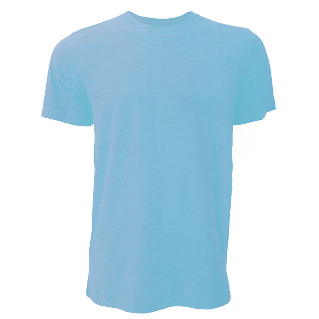 Heather Mint - Front - Canvas Unisex Jersey Crew Neck Short Sleeve T-Shirt