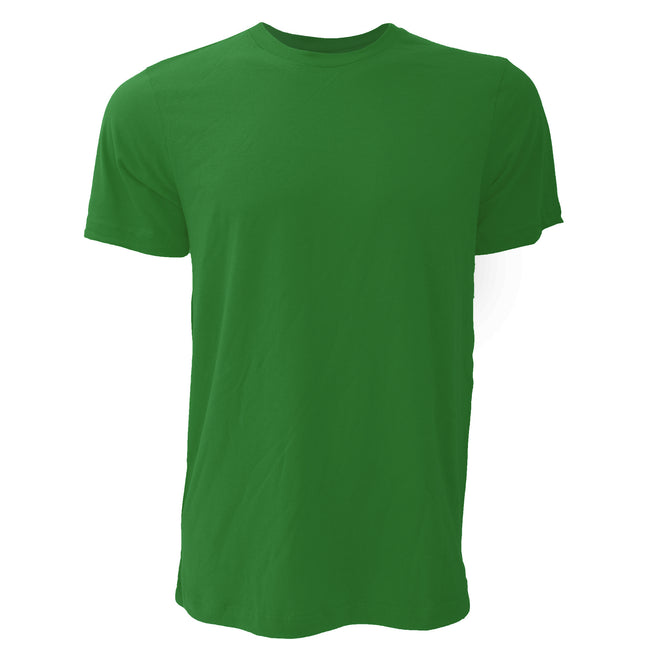 Forest Green - Front - Canvas Unisex Jersey Crew Neck Short Sleeve T-Shirt