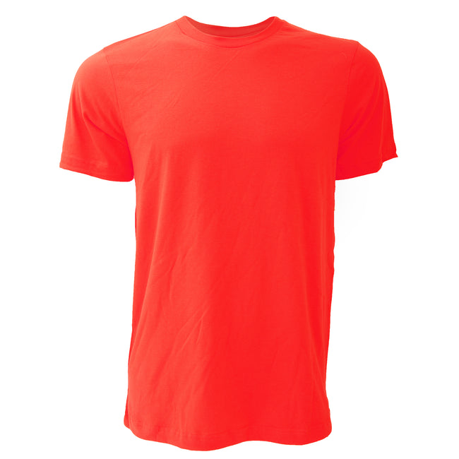 Military Green - Front - Canvas Unisex Jersey Crew Neck Short Sleeve T-Shirt