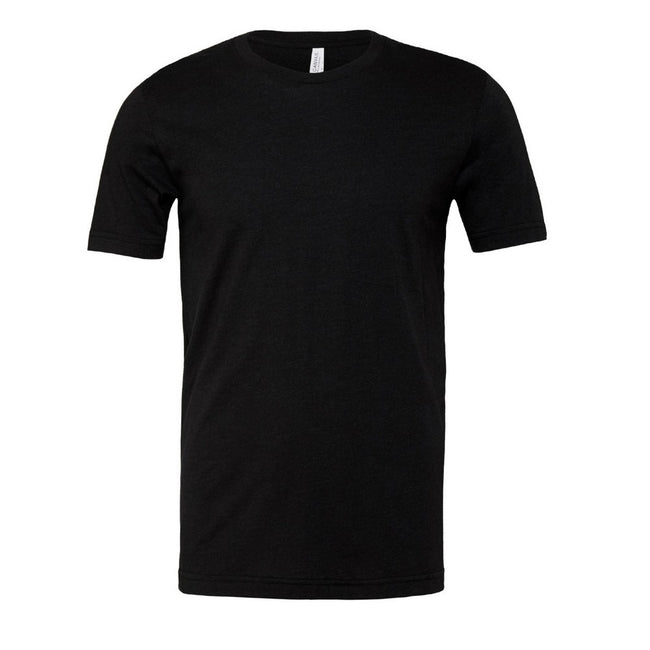 Heather Black - Front - Canvas Unisex Jersey Crew Neck Short Sleeve T-Shirt