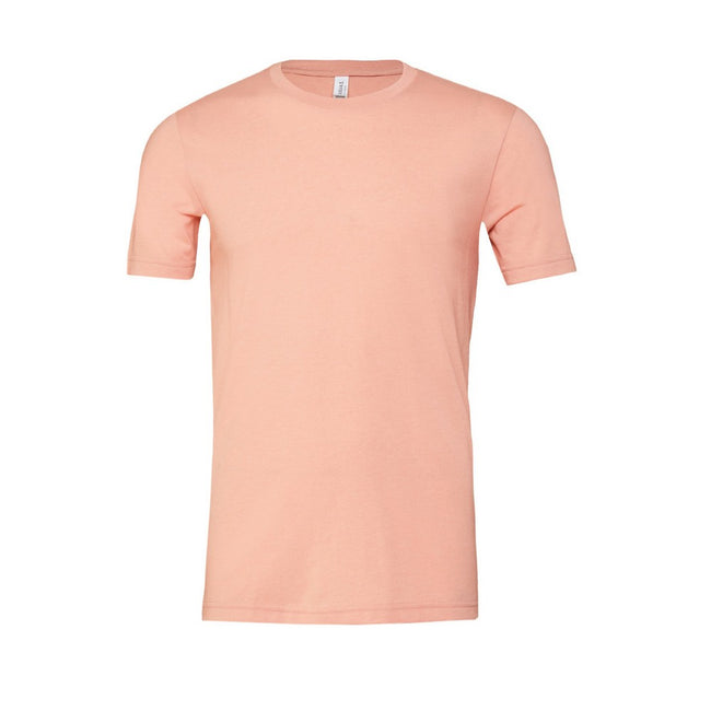 Heather Peach - Front - Canvas Unisex Jersey Crew Neck Short Sleeve T-Shirt