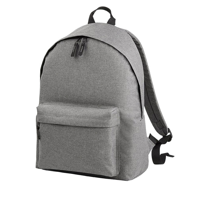 Grey Marl - Front - Bagbase Two Tone Fashion Backpack - Rucksack - Bag (18 Litres)